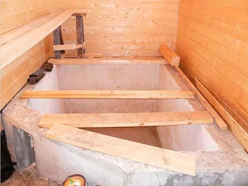 Как в бане сделать бассейн