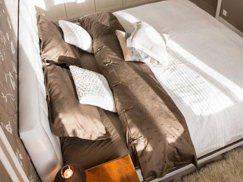 Бирюза и какао Два варианта одной спальни