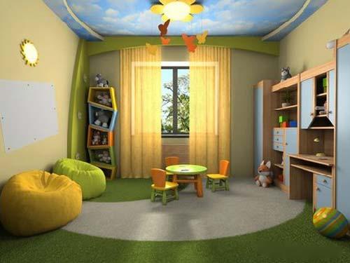 Сделать потолок в детскую комнату своими руками