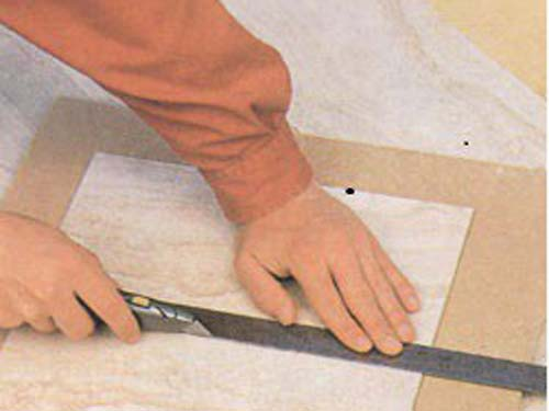 Как сделать насечки на плитке 452
