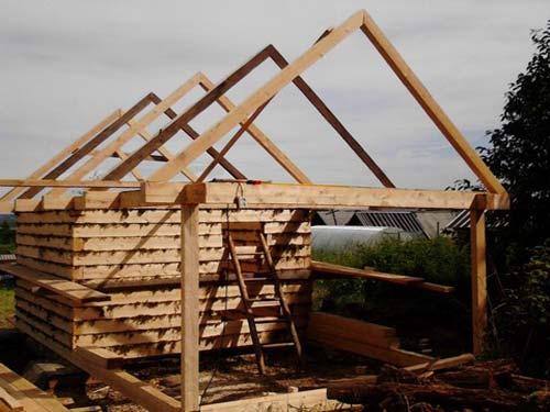 Как построить крышу сруба своими руками 33